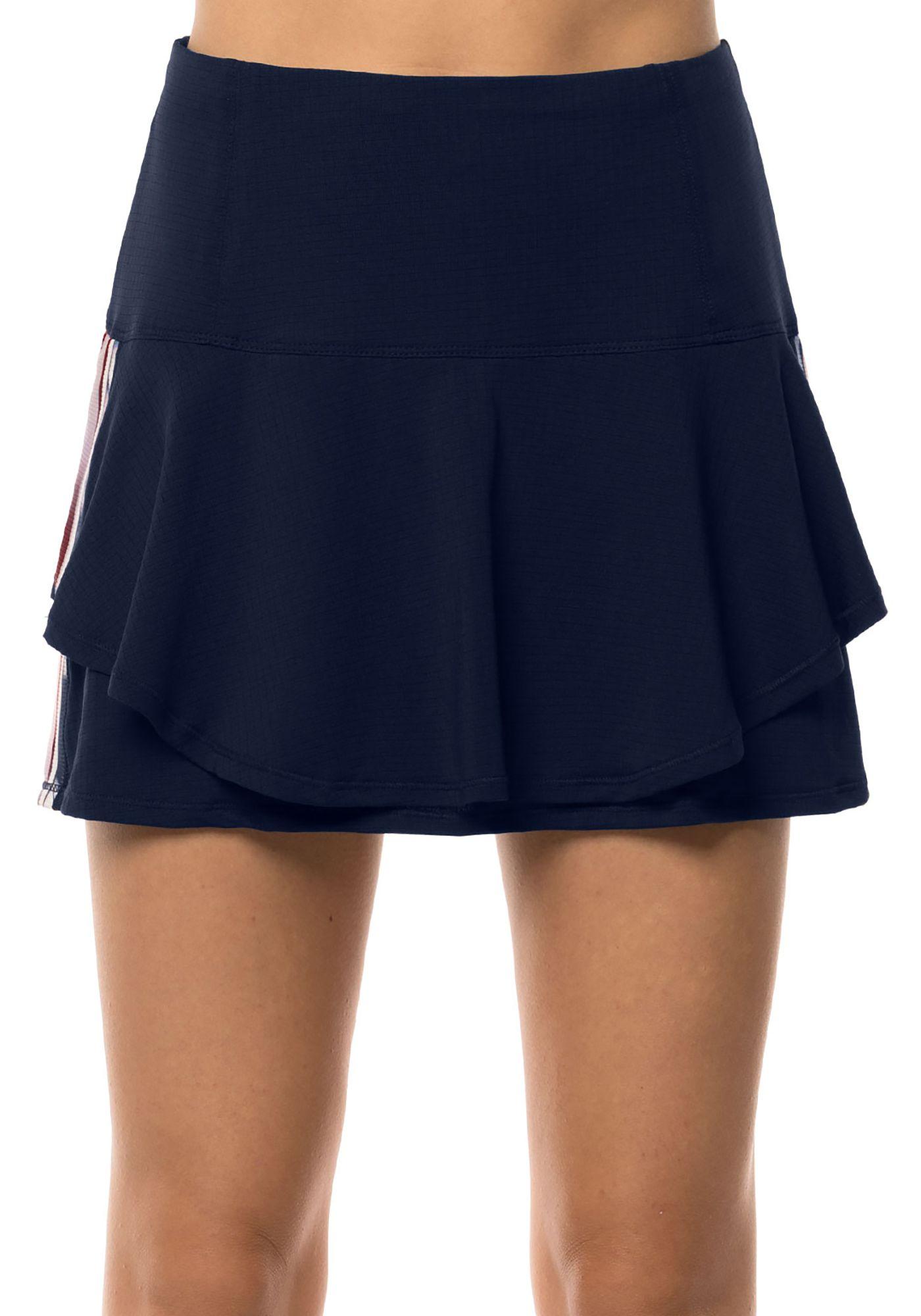 Lucky in Love Women's Long Lush Stripe Tennis Flip Skort