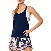 Lucky in Love Women's Lush Stripe Crop Layer Tennis Tank