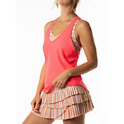 Lucky In Love Women's Lit Knotted Bralette Tennis Tank Top