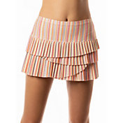Lucky In Love Women's Lit Pleated Scallop Tennis Skort