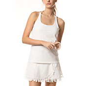 Lucky In Love Women's Macramé Cami Tennis Tank Top