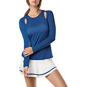 Lucky in Love Women's Axis Max Out Long Sleeve Tennis T-Shirt