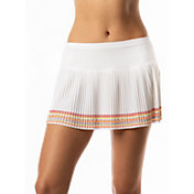 Lucky In Love Women's Neon Border Pleated Tennis Skort