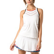 Lucky In Love Women's Bloomy Dimensions Score Tennis Tank