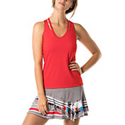 Lucky In Love Women's Bloomy Dimensions V-Neck Cutout Tennis Tank