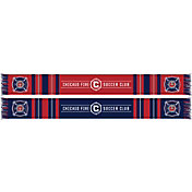 Ruffneck Scarves Chicago Fire Soccer Club Bar Scarf