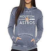 Soft As a Grape Women's Houston Astros Navy Pullover Hooded Fleece
