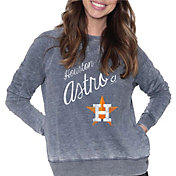 Soft As a Grape Women's Houston Astros Navy Pullover Fleece