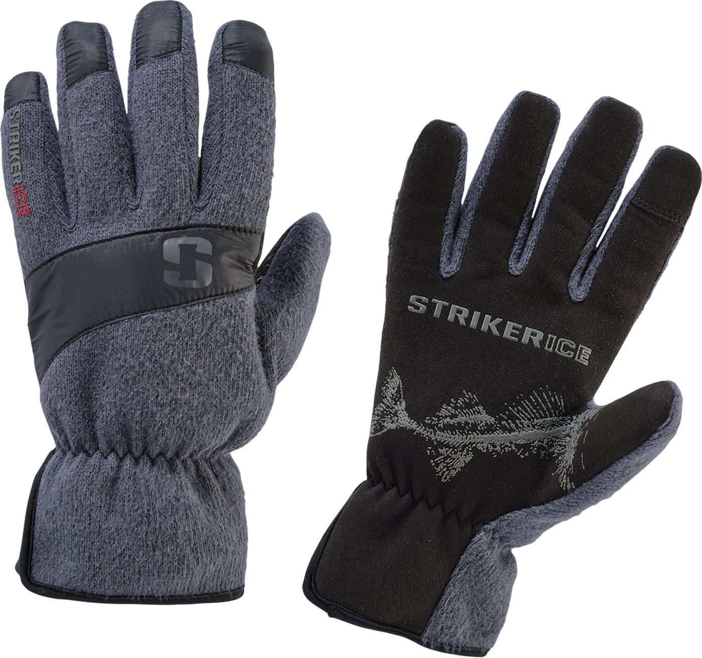 Striker Ice Men's Fleece Driving Ice Fishing Gloves