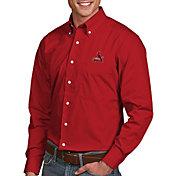 Antigua Men's St. Louis Cardinals Dynasty Button-Up Red Long Sleeve Shirt