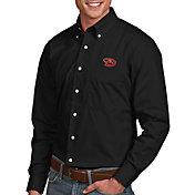 Antigua Men's Arizona Diamondbacks Dynasty Black Long Sleeve Button Down Shirt