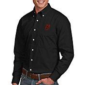 Antigua Men's San Francisco Giants Dynasty Button-Up Black Long Sleeve Shirt