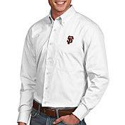 Antigua Men's San Francisco Giants Dynasty Button-Up White Long Sleeve Shirt
