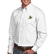 Antigua Men's Oakland Athletics Dynasty Button-Up White Long Sleeve Shirt