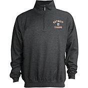 Stitches Men's Detroit Tigers Quarter-Zip Pullover