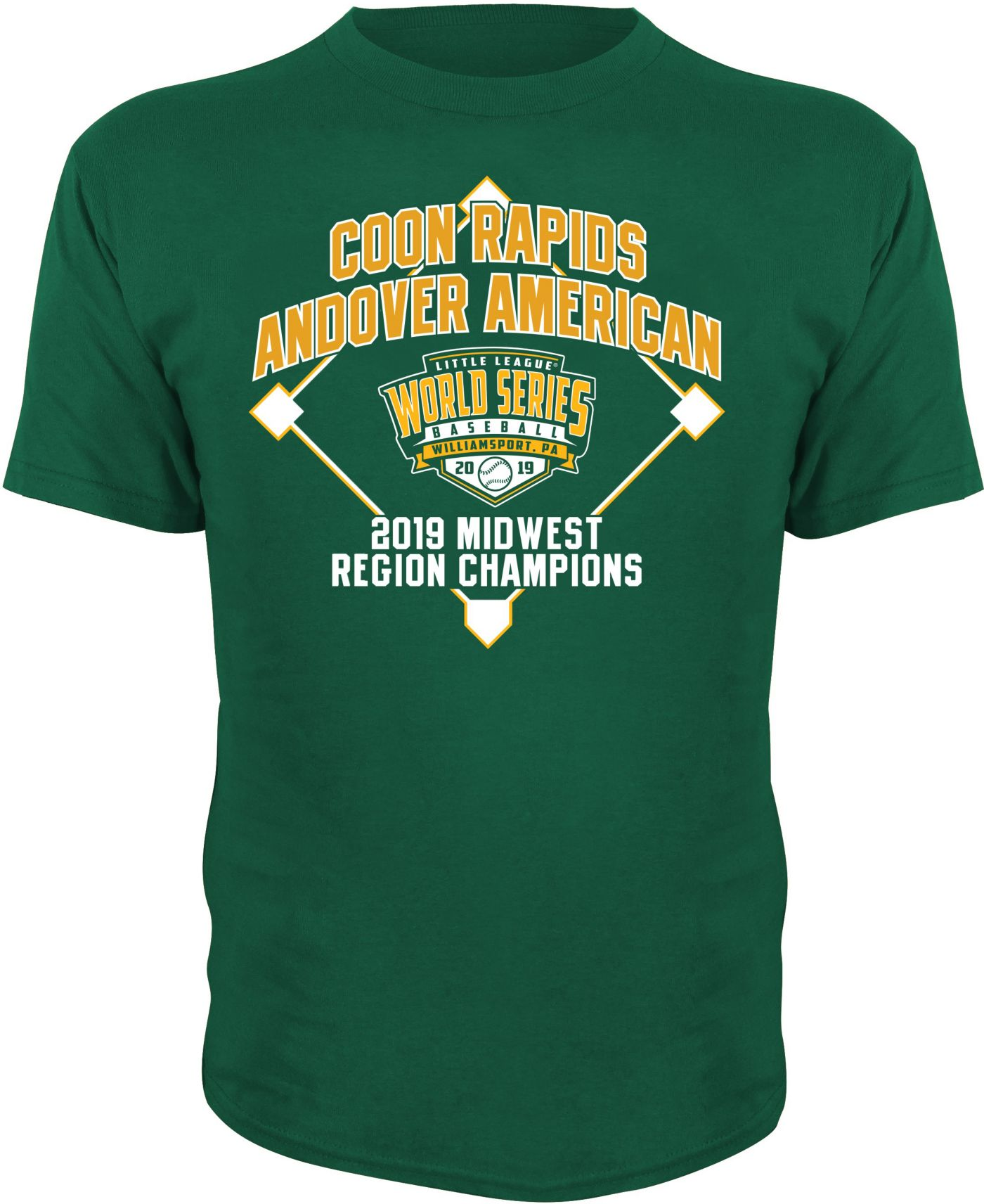 Stitches Youth 2019 LLWS Midwest Regional Champions T-Shirt