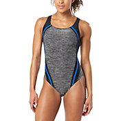 Speedo Women's Quantum Splice Heather One Piece Swimsuit