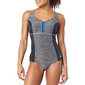 Speedo Women's Texture Touchback Racerback One Piece Swimsuit