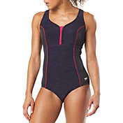 Speedo Women's Texture Touchback Racerback One Piece Swimsuit