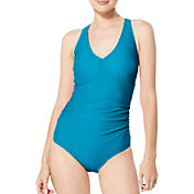 Speedo Women's V-Neck One Piece Swimsuit