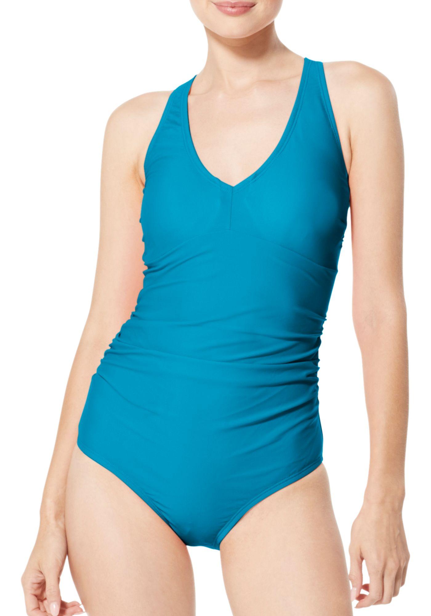Speedo Women's V-Neck One Piece Swimsuit