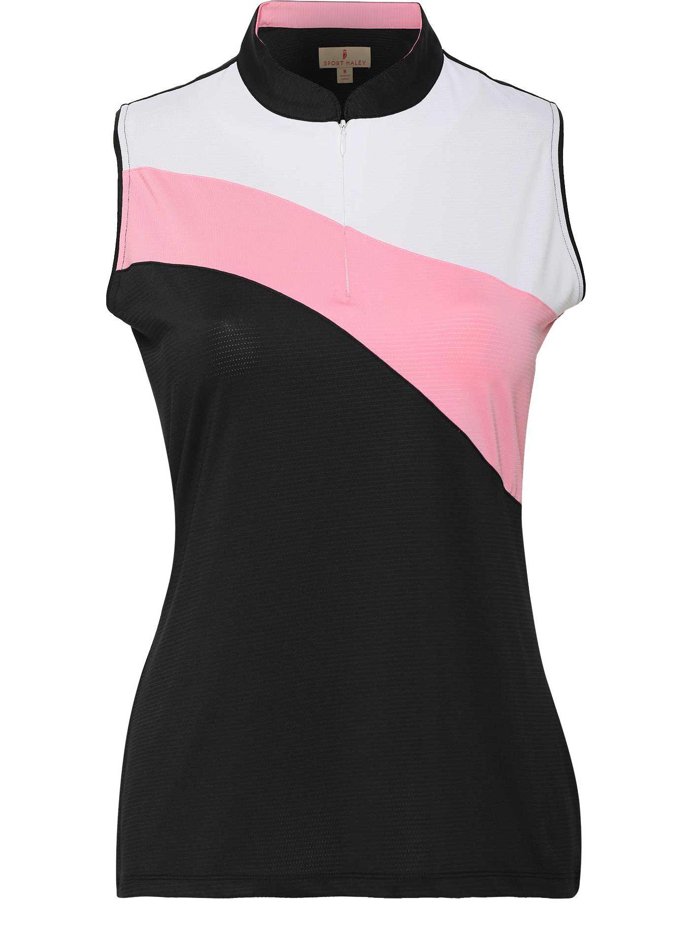 Sport Haley Women's Chara Color Blocked Sleeveless Golf Polo