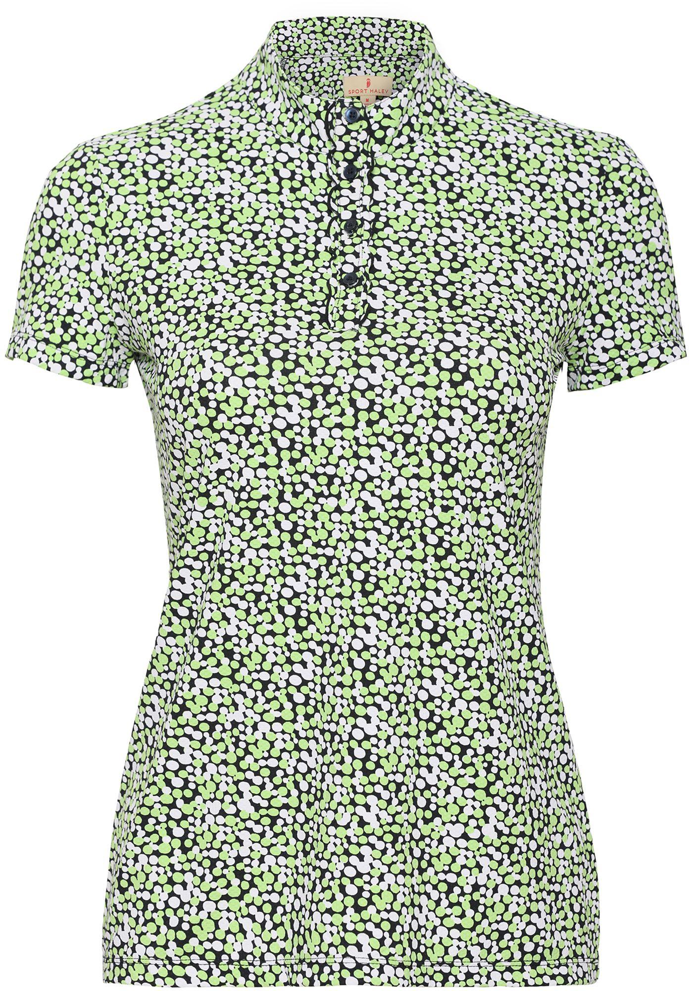 Sport Haley Women's Dottie Short Sleeve Print Golf Polo