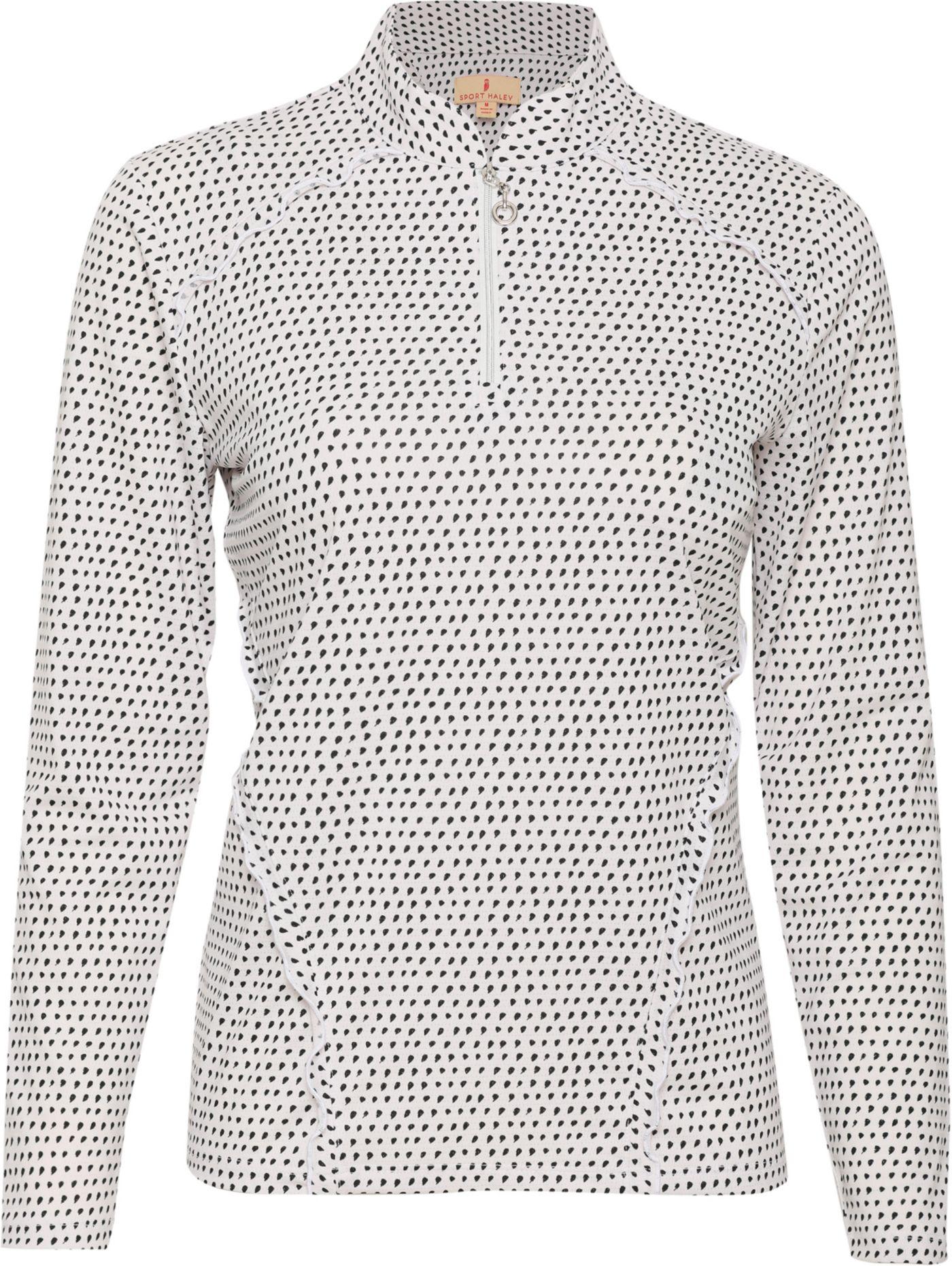 Sport Haley Women's Alexa Print ¼-Zip Long Sleeve Golf Pullover