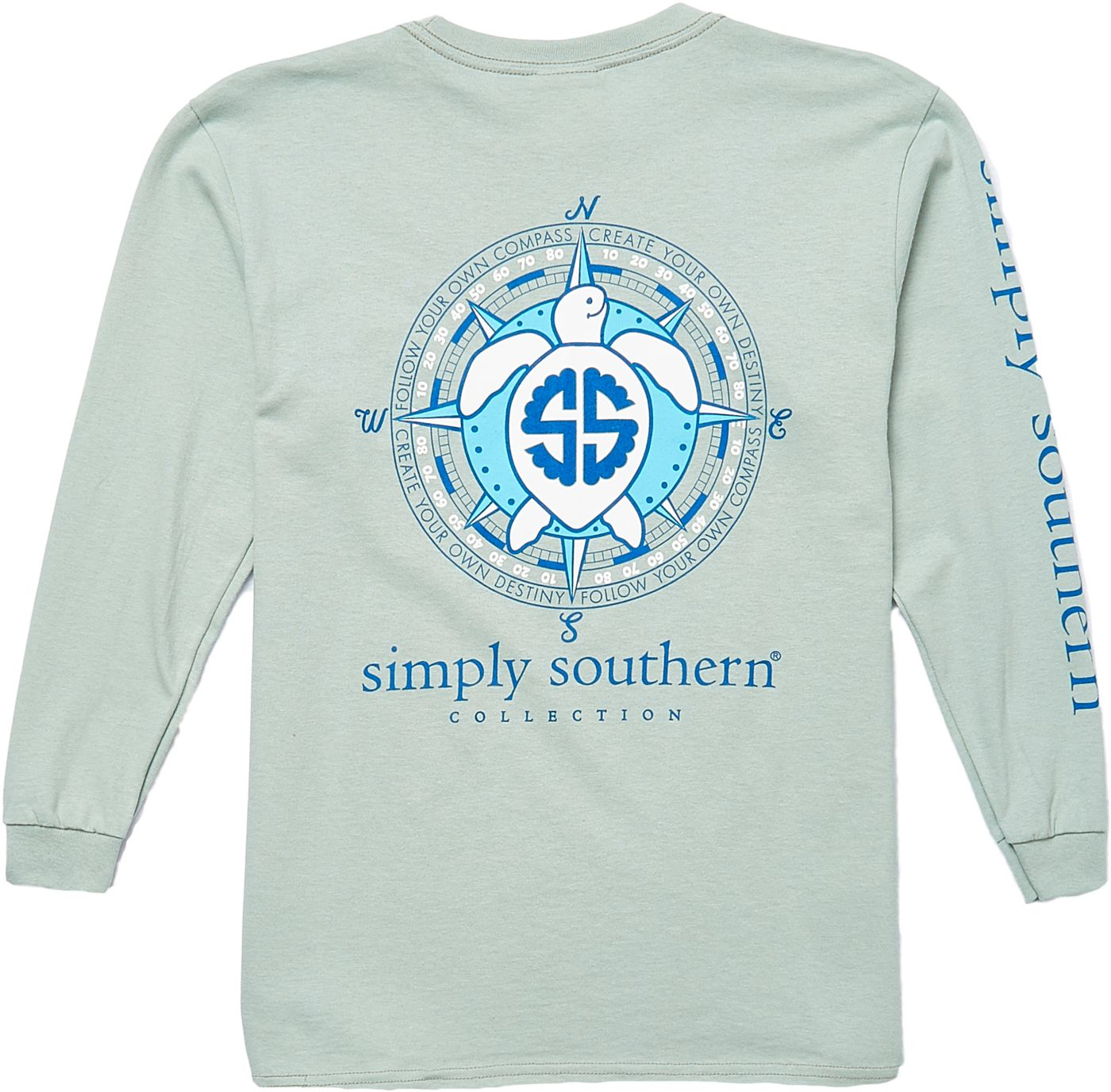 Simply Southern Girls' Compass Long Sleeve T-Shirt