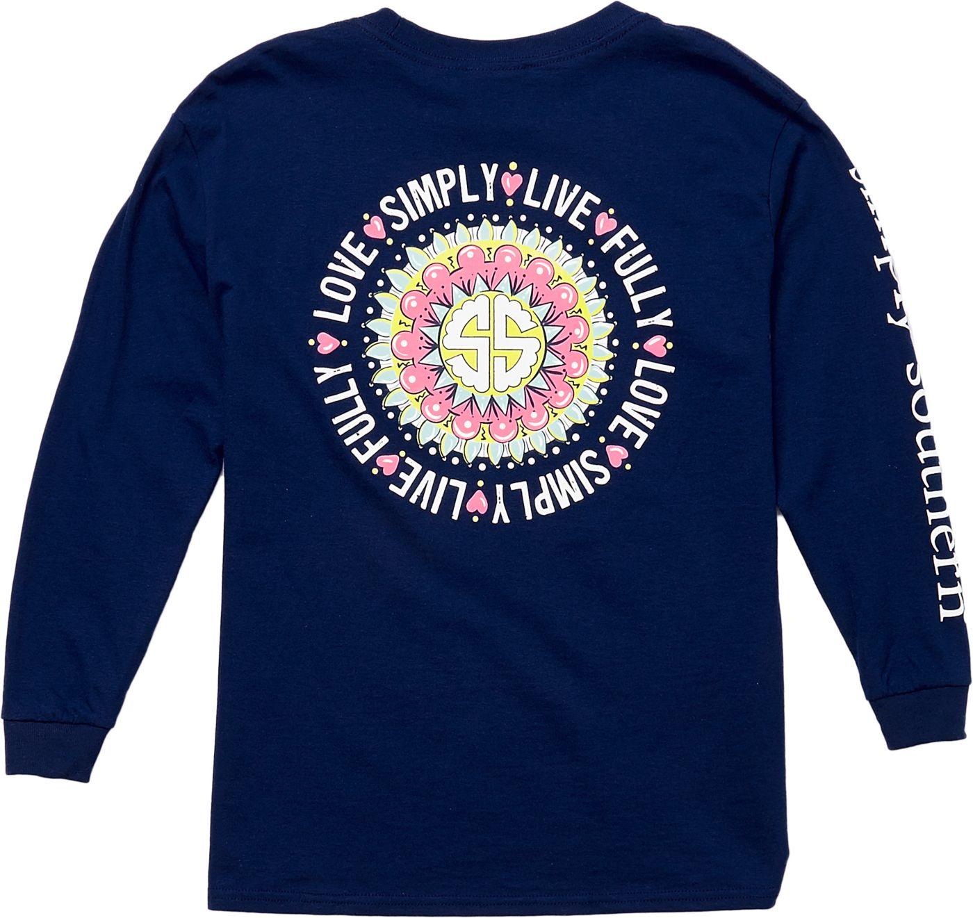 Simply Southern Girls' Mandala Long Sleeve T-Shirt