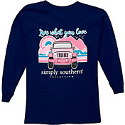Simply Southern Girls' Mountain Long Sleeve T-Shirt
