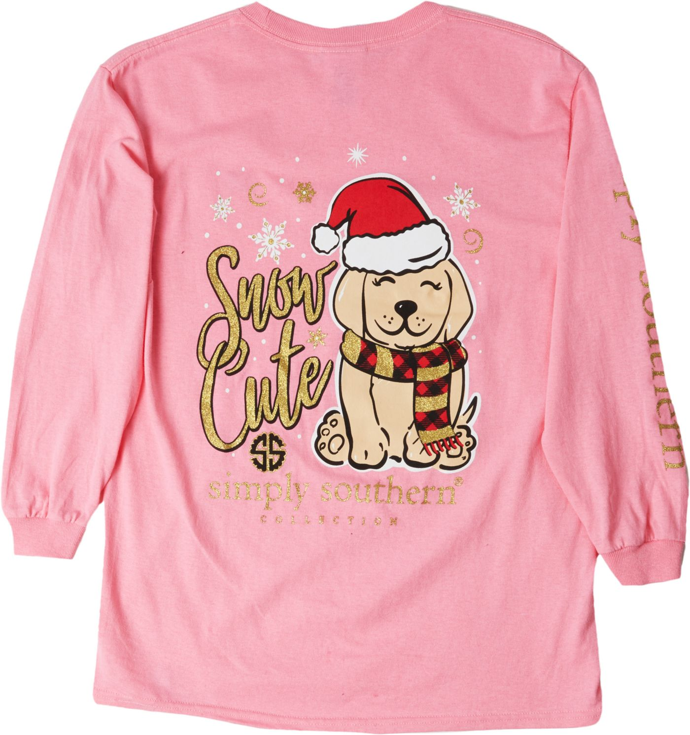 Simply Southern Girls' Long Sleeve Puppy T-Shirt