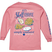 Simply Southern Girls' Shellebrate Long Sleeve T-Shirt