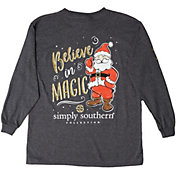 Simply Southern Girls' Long Sleeve Santa T-Shirt