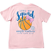Simply Southern Girls' Basketball Pocket Short Sleeve T-Shirt