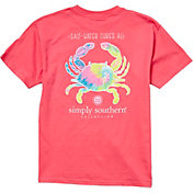 Simply Southern Girls' Short Sleeve Crab T-Shirt