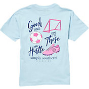 Simply Southern Girls' Short Sleeve Hustle Soccer T-Shirt