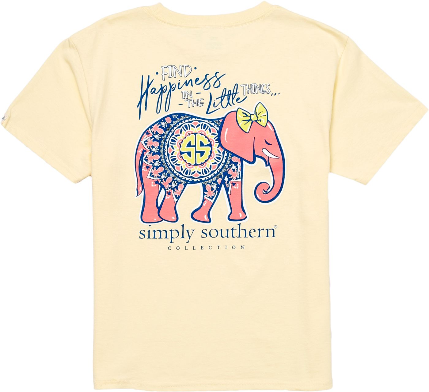 Simply Southern Girls' Elephant Short Sleeve T-Shirt