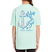 Simply Southern Girls' Short Sleeve Anchor T-Shirt