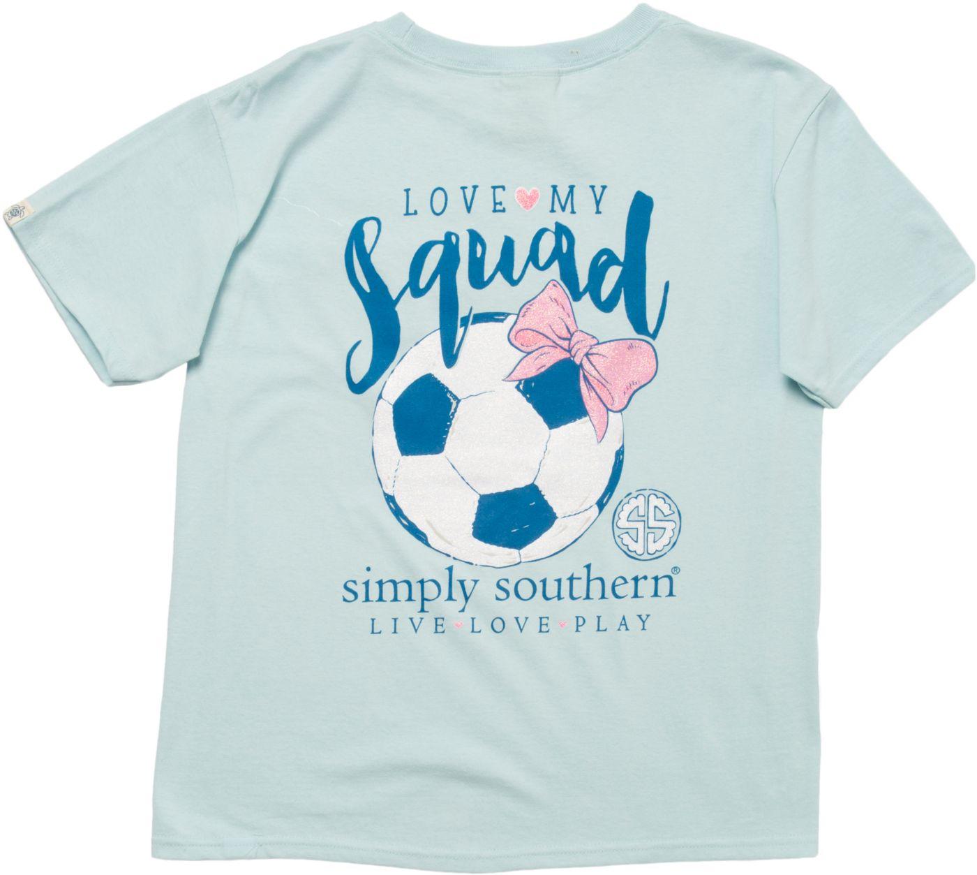 Simply Southern Girls' Soccer Pocket Short Sleeve T-Shirt