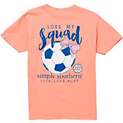 Simply Southern Girls' Soccer Pocket Short Sleeve T-Shirt
