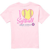 Simply Southern Girls' Short Sleeve Softball T-Shirt