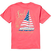 Simply Southern Girl's Short Sleeve Sail USA T-Shirt