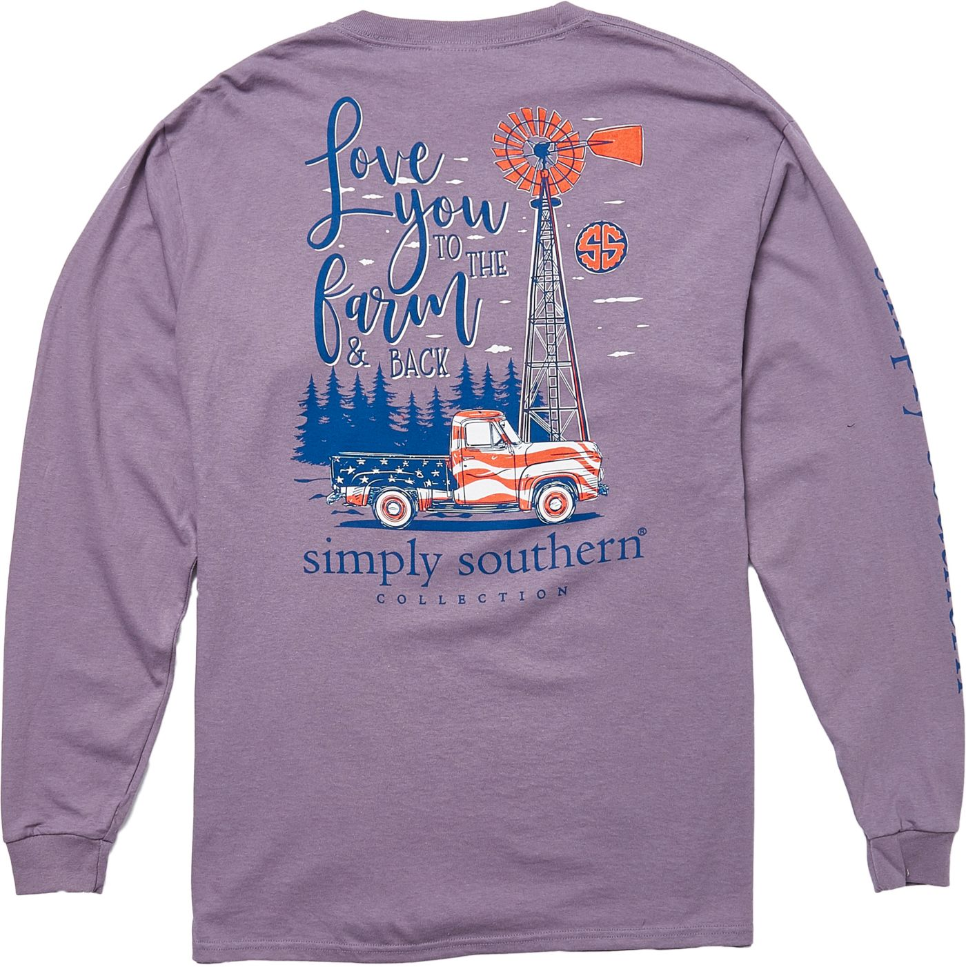 Simply Southern Women's Farm Long Sleeve T-Shirt