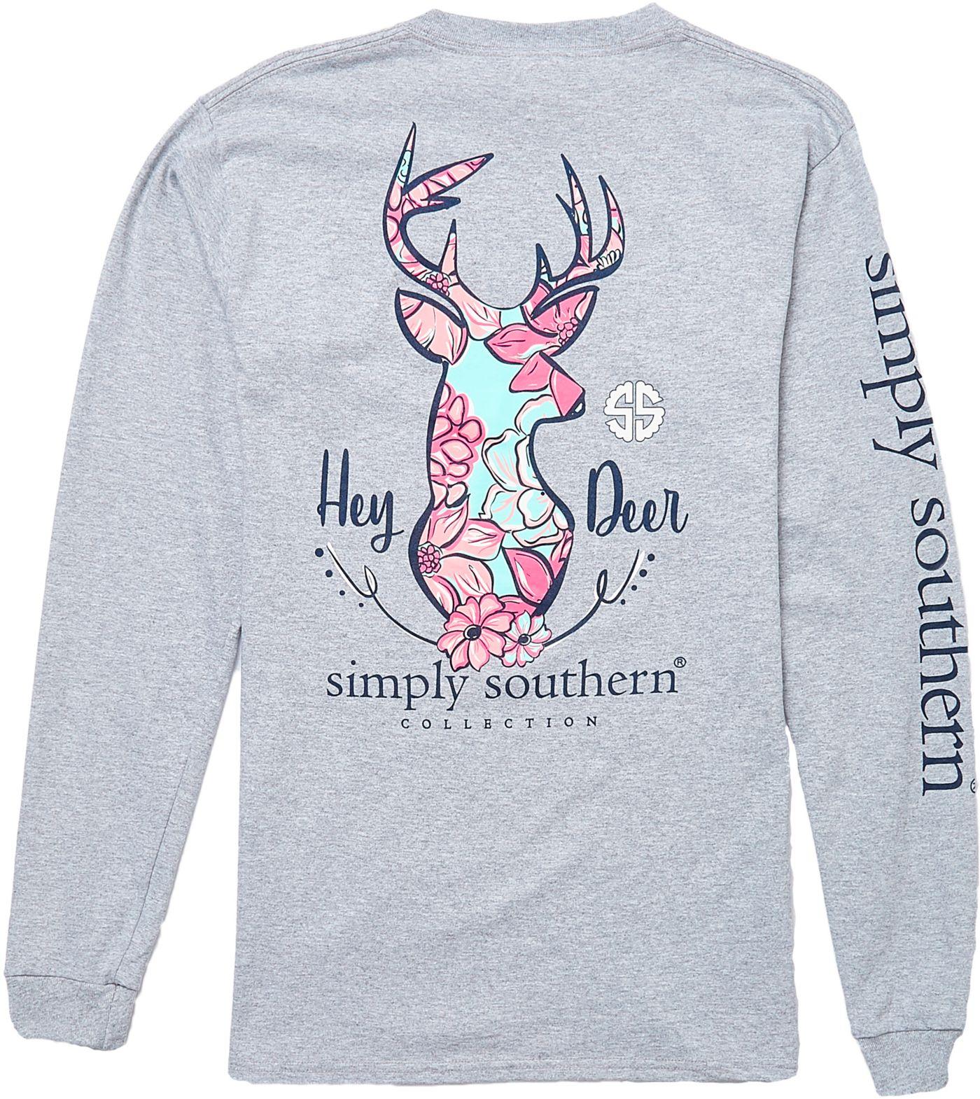 Simply Southern Women's Long Sleeve Hey Deer T-Shirt