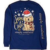 Simply Southern Women's Long Sleeve Puppy T-Shirt