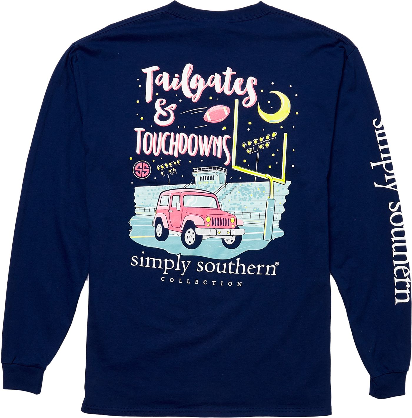 Simply Southern Women's Tailgate Long Sleeve T-Shirt
