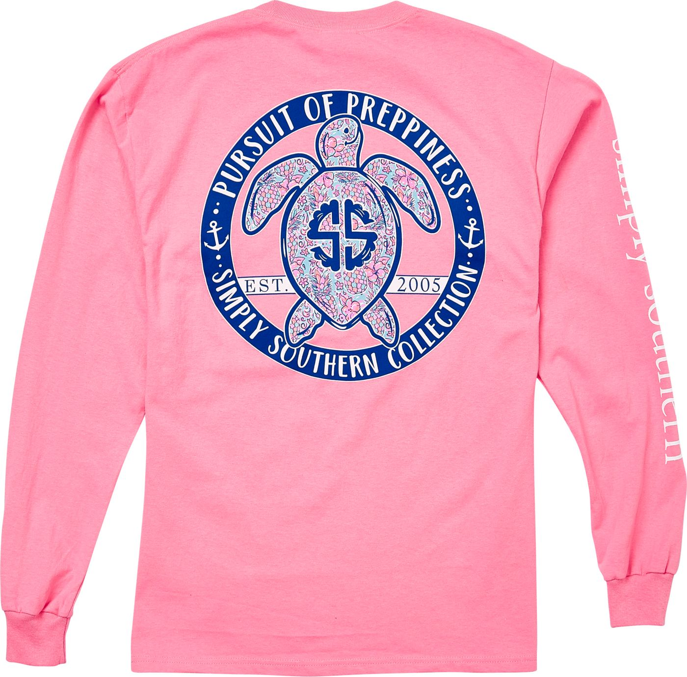 Simply Southern Women's Turtle Prep Long Sleeve T-Shirt