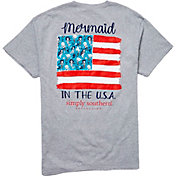 Simply Southern Women's Short Sleeve Mermaids USA T-Shirt