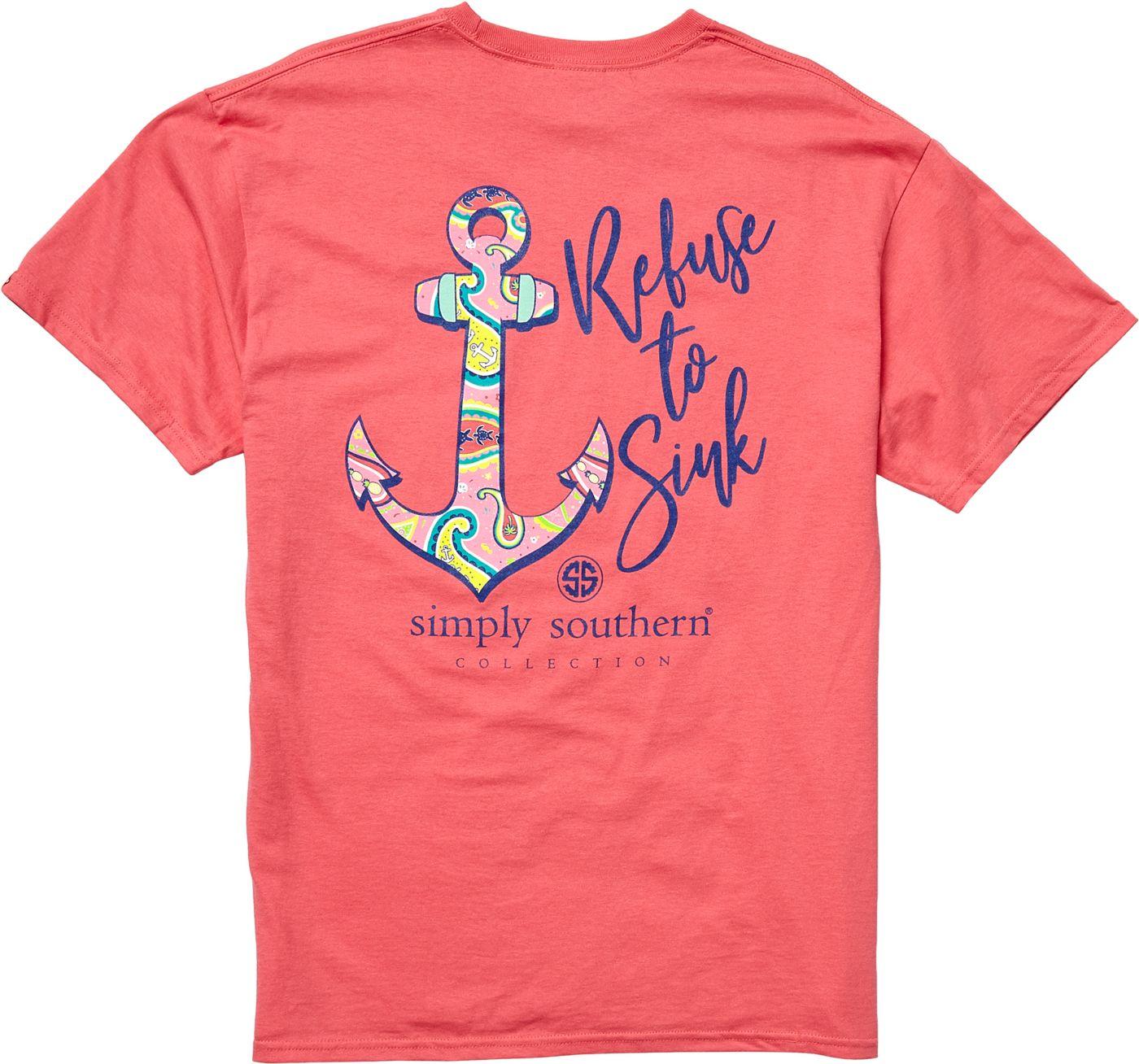 Simply Southern Women's Short Sleeve Anchor T-Shirt